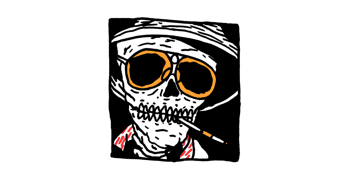 Fear And Loathing Skull Fear And Loathing In Las Vegas