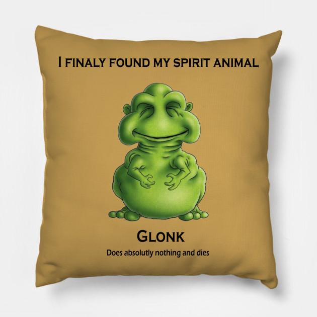 Glonk Spiritual Animal - Cool Teess - Pillow TeePublic