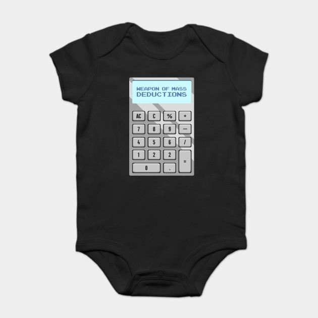 Mass Deductions Funny Accountant Calculator - Accountant - Onesie