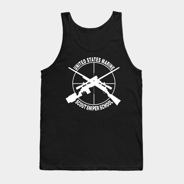 US Marine Scout Sniper School - Sniper School - Tank Top TeePublic