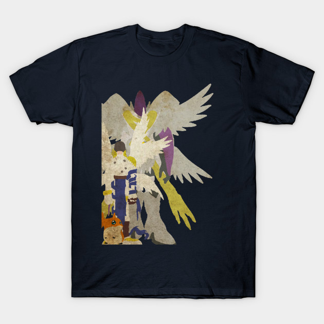 patamon digivolution - Angemon - T-Shirt TeePublic
