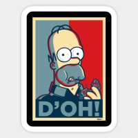 D'oh Simpson - Homer Simpson - Sticker | TeePublic