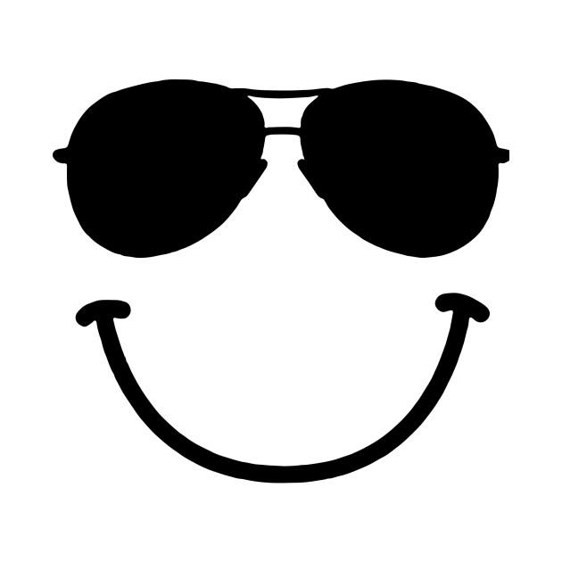 Smiley Face Sunglasses Funny Logo - Funny - Long Sleeve T-Shirt