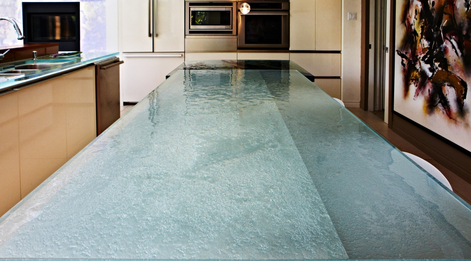 Think Glass Countertops Work Of Art Thinkglass Kitchen Countertops Trends