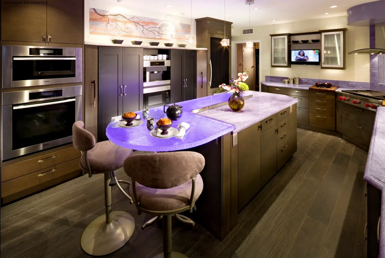 Lavender Purple Kitchen Renovation With Graphite Trends