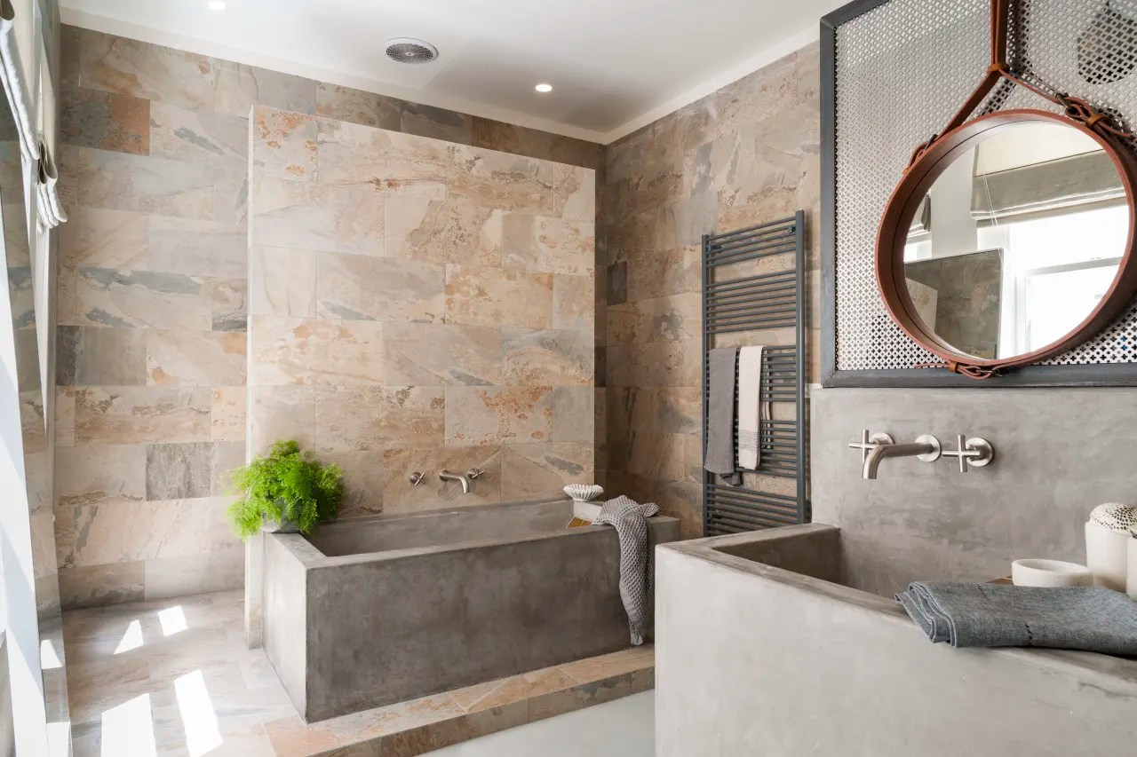 Contemporary Bathroom Design With Verde Slate Trends