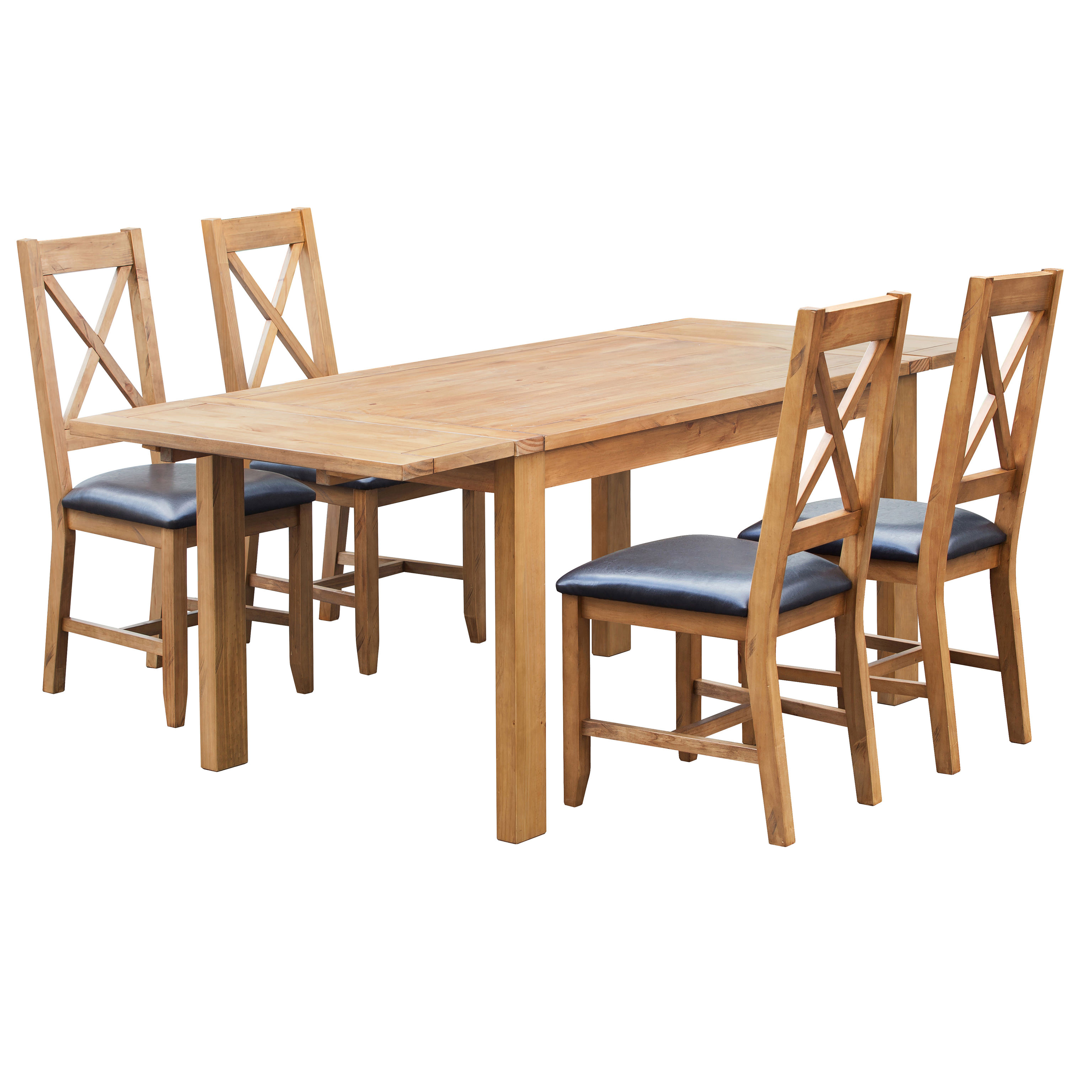 Esstisch Pinie Massiv Ausziehbar Solid Pine Extending Extendable Dining Table And Chair Set