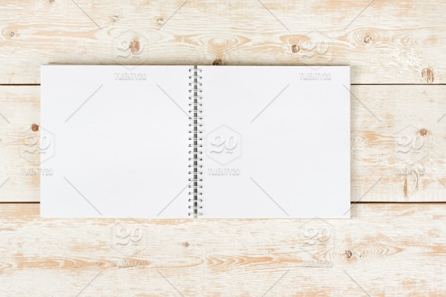 Notebook on the table Open notebook Design mockup blank, sheet
