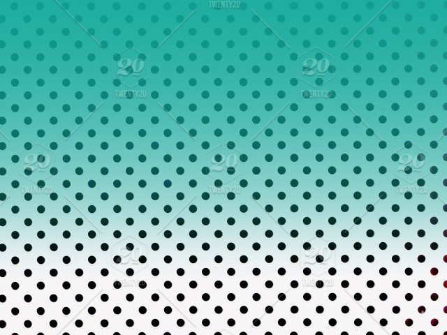 Green layer over black and white polka dot background Chic Pretty