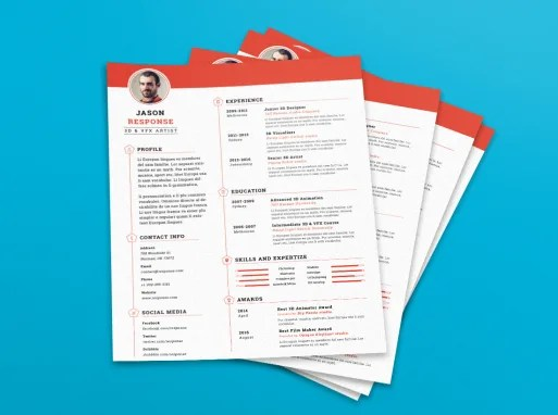 Download Acca - PSD Resume Template from UiSuMo