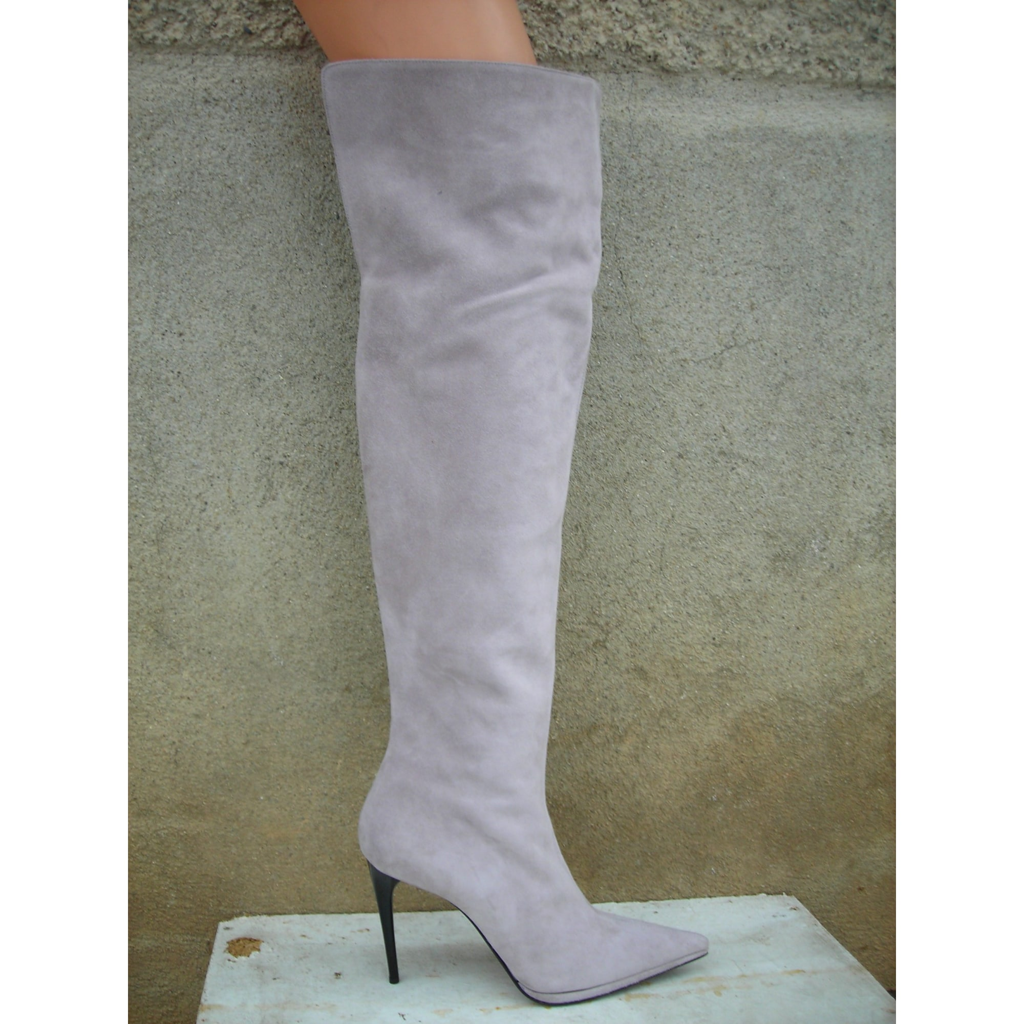 Le Silla Boots Thigh High Boots Le Silla 41 Purple 3643076