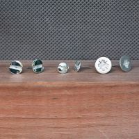 Flat Head Screw Earrings | Edge Only | Wolf & Badger