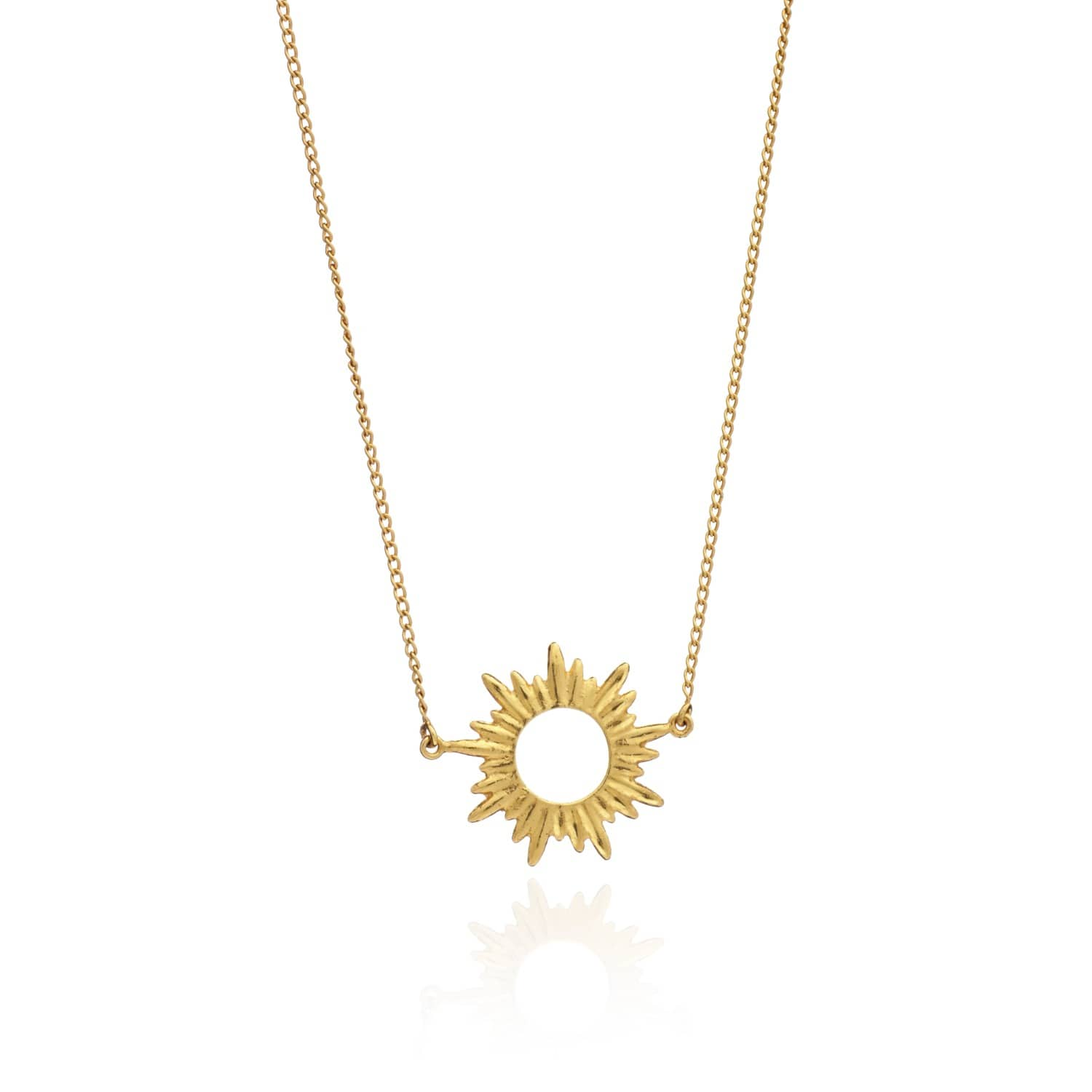 Art Deco Style Jewelry Boxes Sunrays Short Necklace In Gold By Rachel Jackson London
