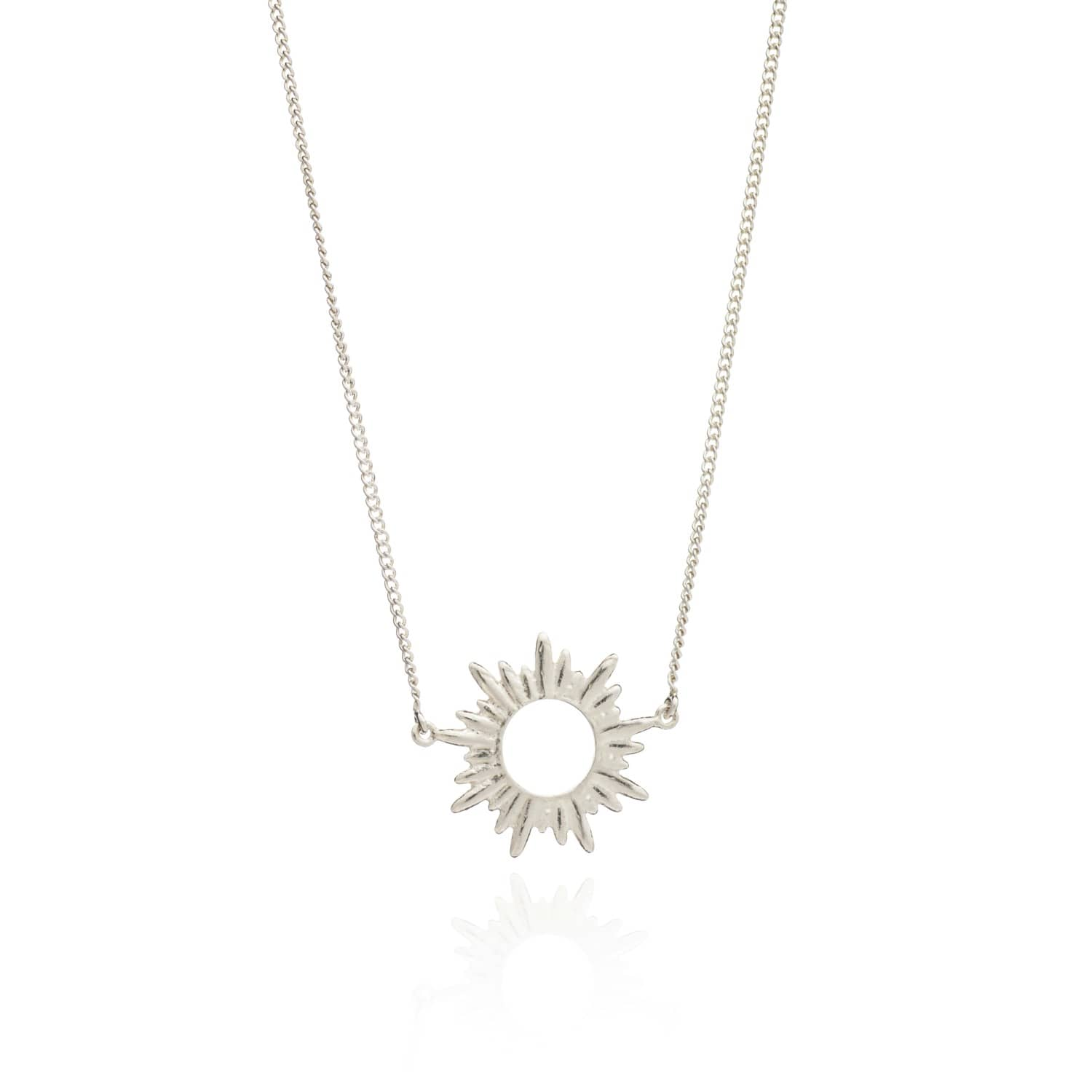 Art Deco Style Jewelry Boxes Sunrays Short Necklace In Silver By Rachel Jackson London