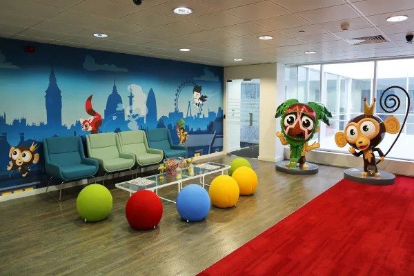 Creating a playful and inspiring office at Virgin Games Virgin - office fun games
