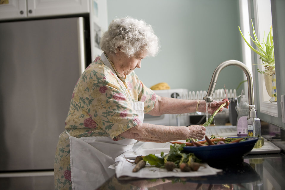 Clip Art Pictures Of Vegetables Woman Free Stock Photo An Elderly Woman Washing