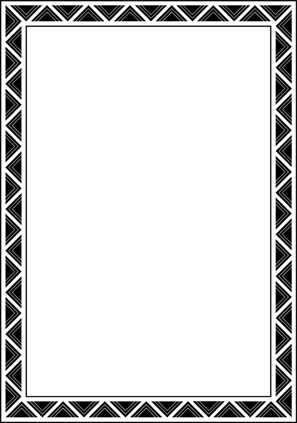 Illustration of a blank frame border free stock photo