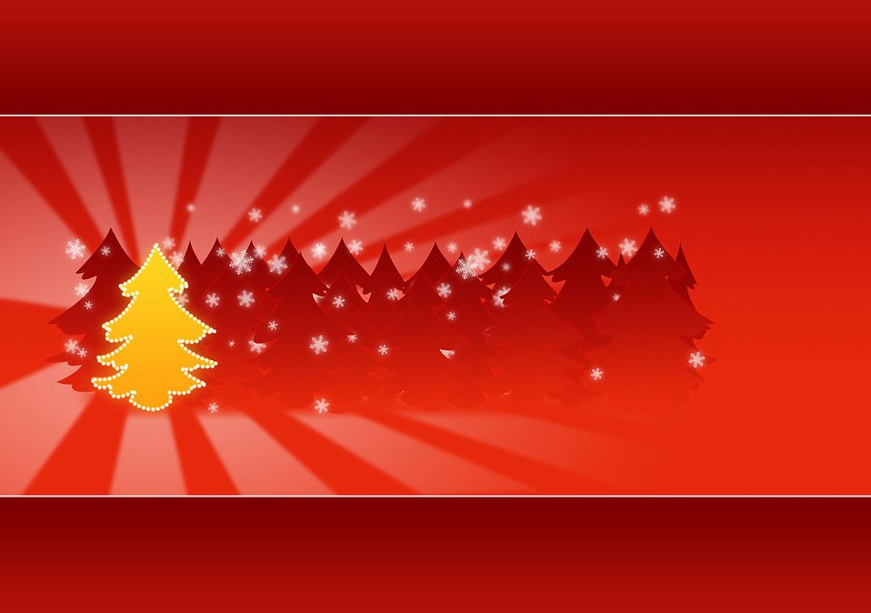 Backgrounds Christmas Free Stock Photo A yellow Christmas tree
