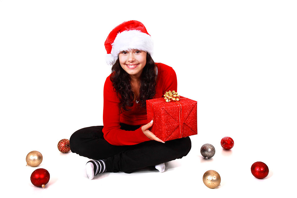Black And White Wallpaper Designs Santa Girl Free Stock Photo A Beautiful Young Woman