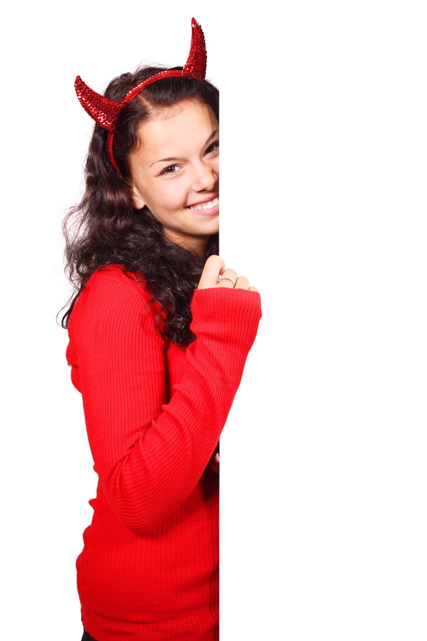 Girl With Mask Wallpaper Devil Girl Free Stock Photo A Beautiful Girl In A Red