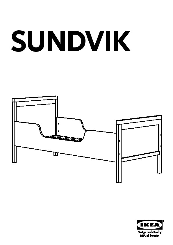 Sundvik Bed Frame With Slatted Bed Base White Ikea United - Lit Ikea Sultan Lade