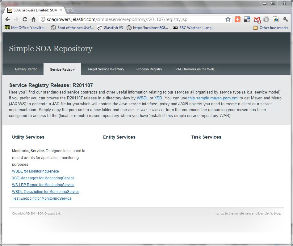 DIY SOA How to build your own Simple Service Repository - fresh blueprint registry jobs