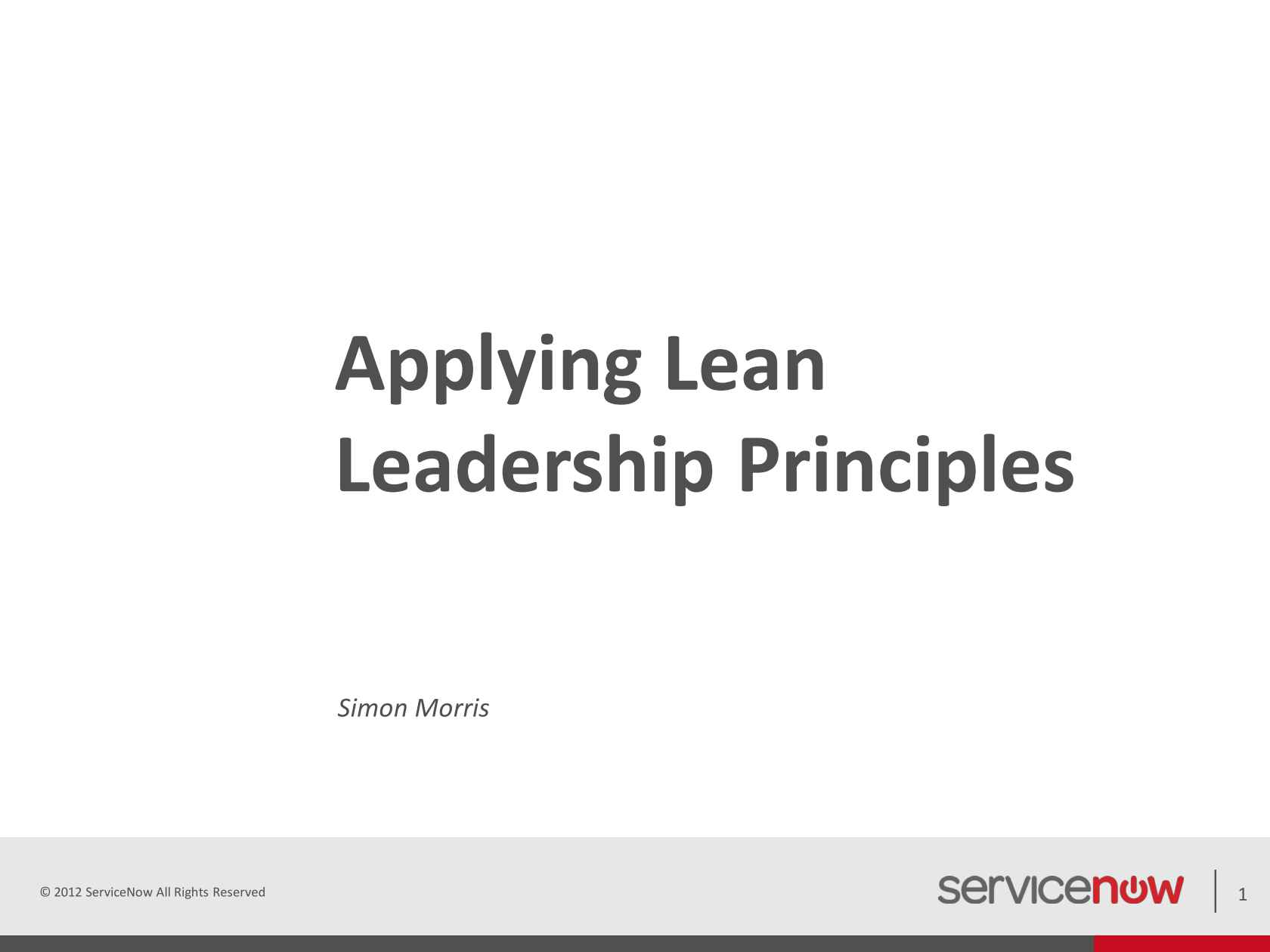 Lean Leadership Lean Leadership Principles Stepping Beyond Visual Management