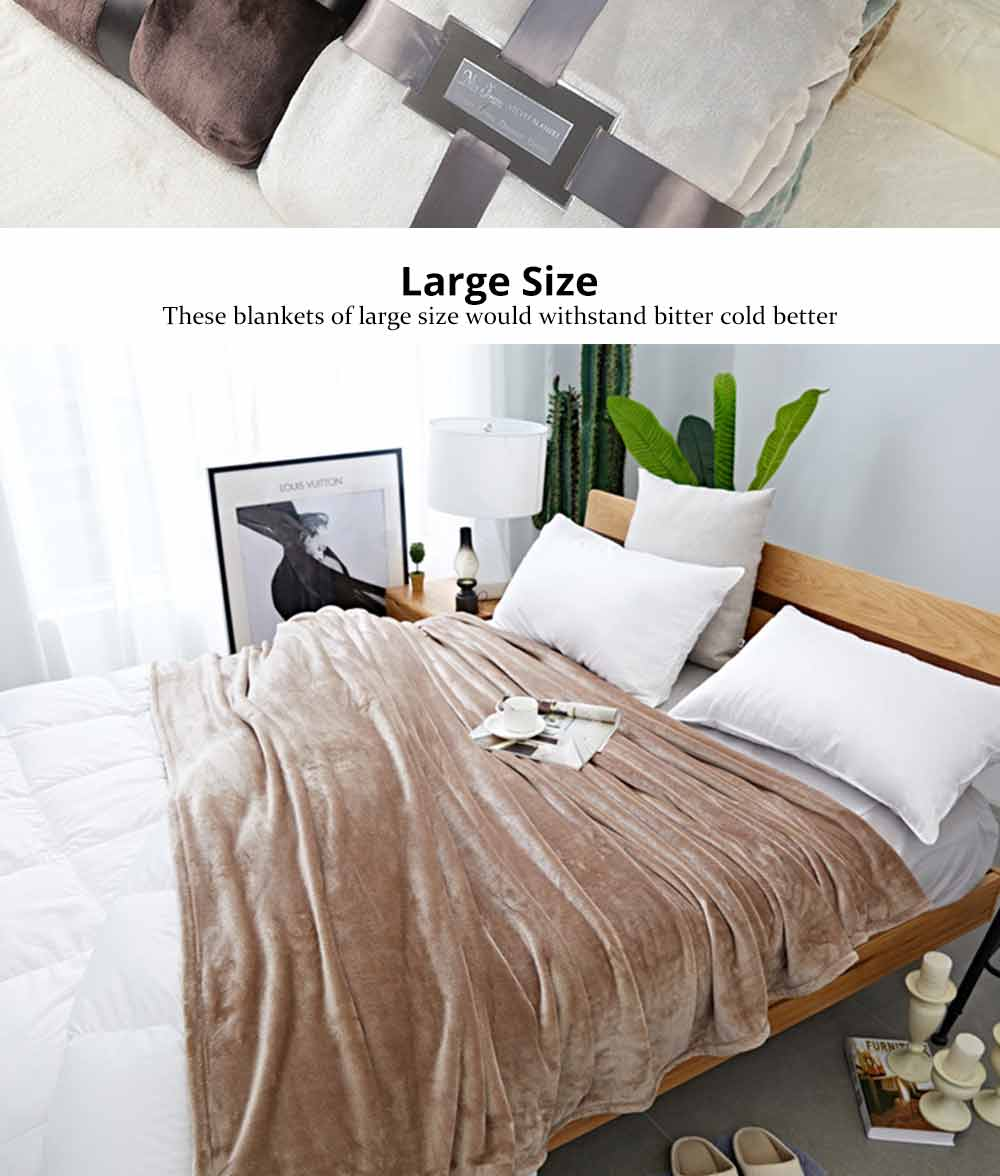 King Size Bed Throws Flannel Blanket Single Double King Size Soft Warm Thicken Bed Blanket Throws