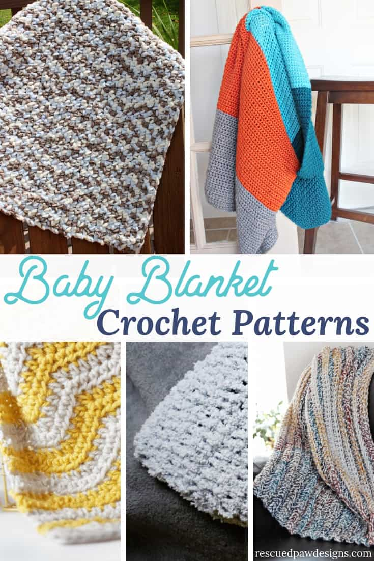 Crocheted Baby Blankets Free Crochet Baby Blanket Patterns Rescued Paw Designs