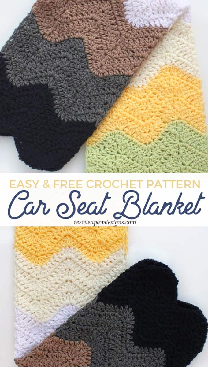 Baby Car Seat Blanket Free Pattern Crochet Car Seat Blanket Pattern Rescued Paw Designs