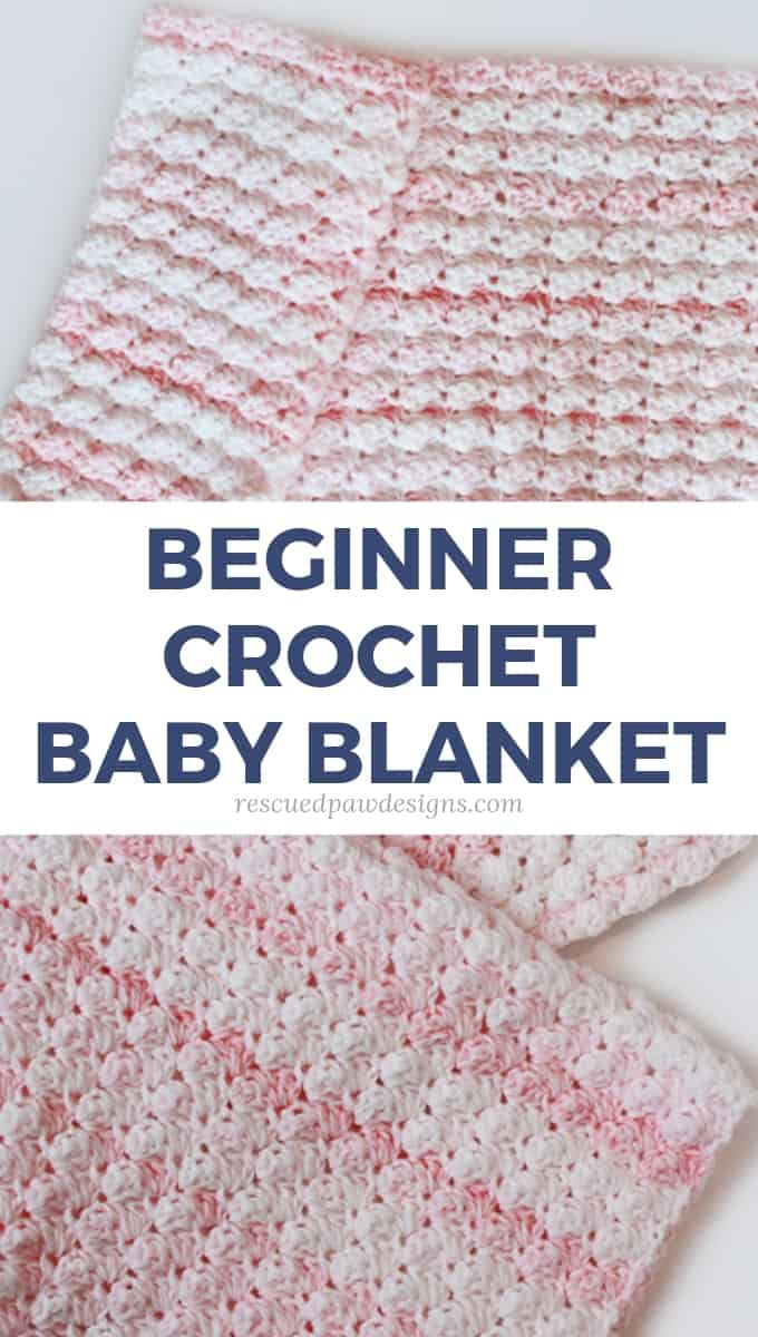 Crocheted Baby Blankets Blanket Stitch Crochet Baby Blanket Pattern Rescued Paw Designs