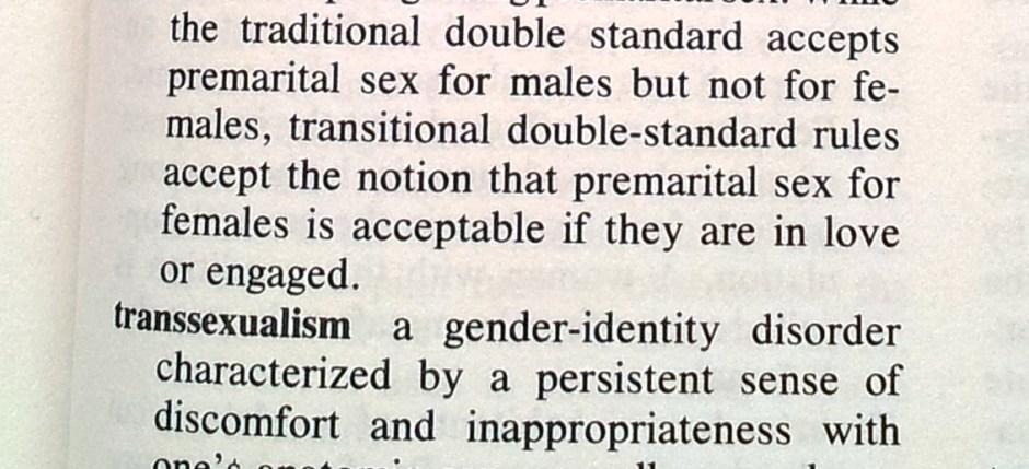 1986: Transgenderism & Transsexualism