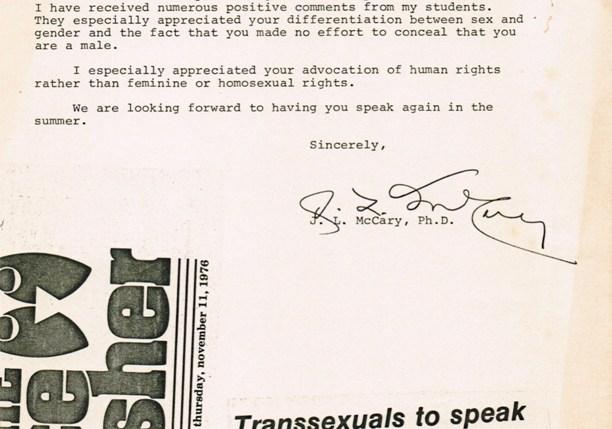 """""""Transgenderous"""" The Rice Thrasher, V 64 N 19, 11/11/76"""