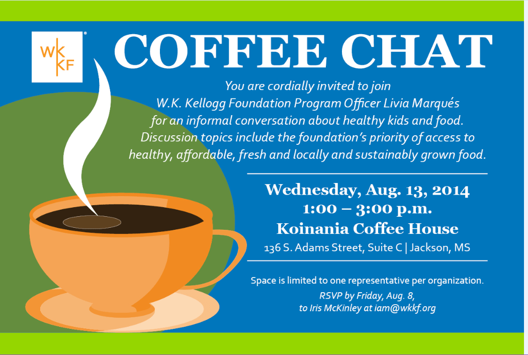 Management Development Coffee Chat With W.k. Kellogg Foundation Program Officer 8/13 | Research, Scholarship