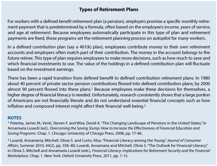Smoothing the Path Balancing Debt, Income, and Saving for the - retirement programs