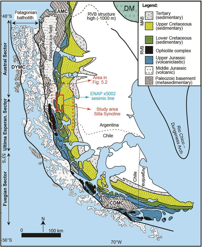 Toros Silla 2016 1 Map Of The Magallanes Austral Foreland Basin With The Key For