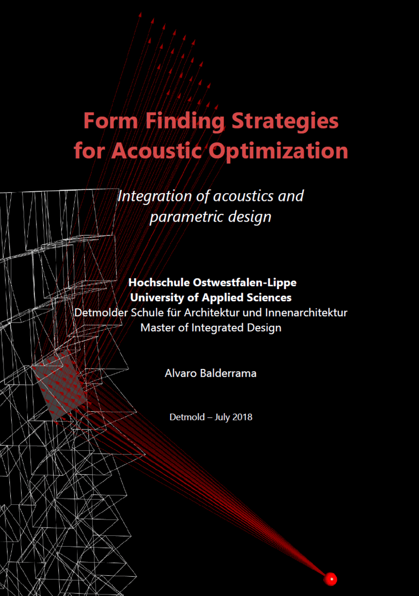 Innenarchitektur Ostwestfalen Lippe Form Finding Strategies For Acoustic Optimization Integration Of
