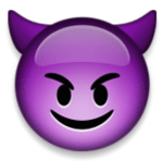 Emoji Purple Devil Face