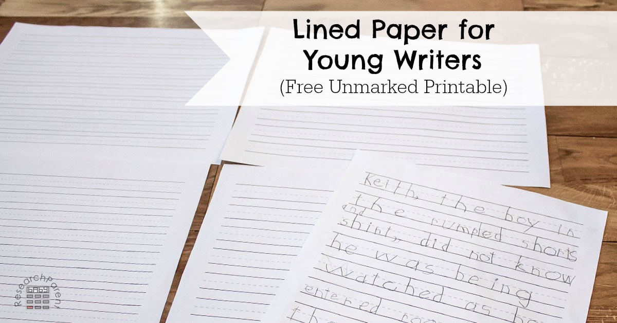 Lined Paper for Young Writers - ResearchParent - lined pages for writing