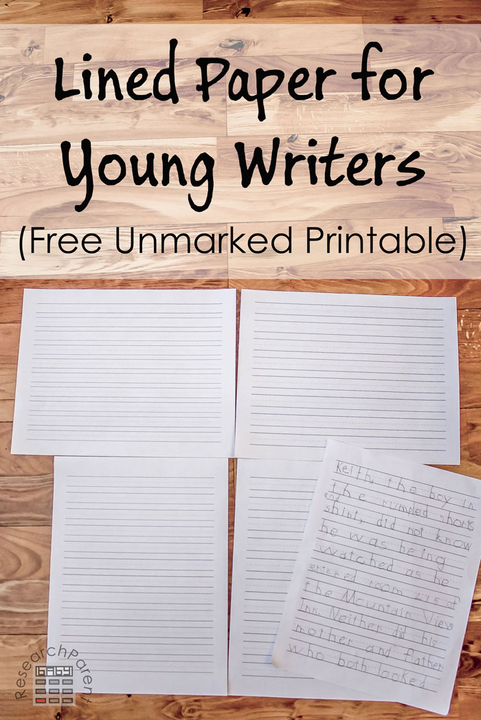 Lined Paper for Young Writers - ResearchParent