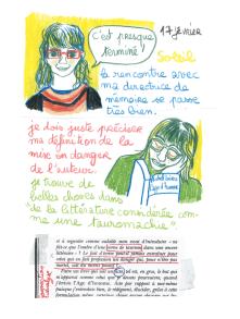 Journal, Julie Delporte, extrait 15
