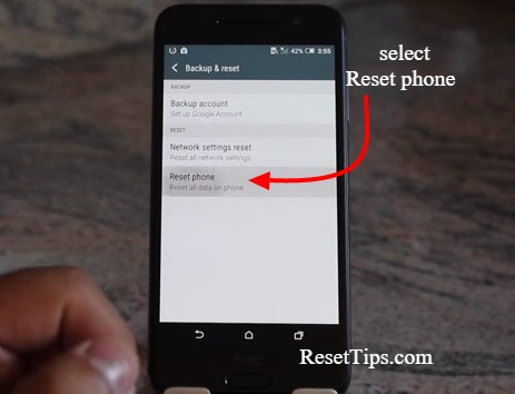 Factory reset htc one-by settings menu-3