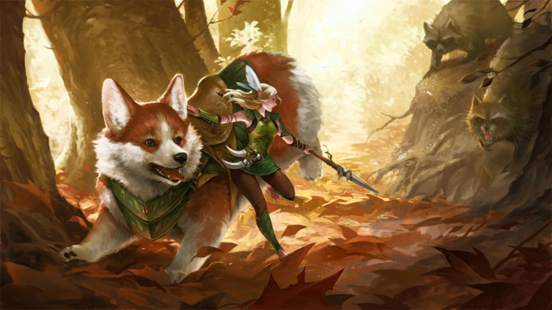 Celtic Wallpaper Hd Fairy And Corgi Mount Vs Evil Trash Pandas 1920x1080