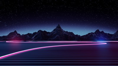 Neon Mountains 1920 × 1080 : wallpapers