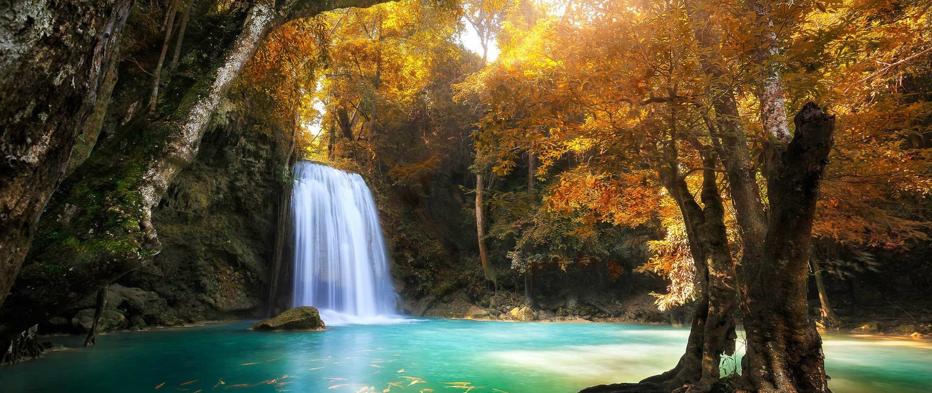 Beautiful Water Fall Scenery Wallpapers Outdoors River Water Waterfall Fountain Resized By Ze