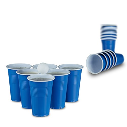 Rote Plastikbecher Rote Partybecher 50 Stück | Beer Pong Party Cups | Extra