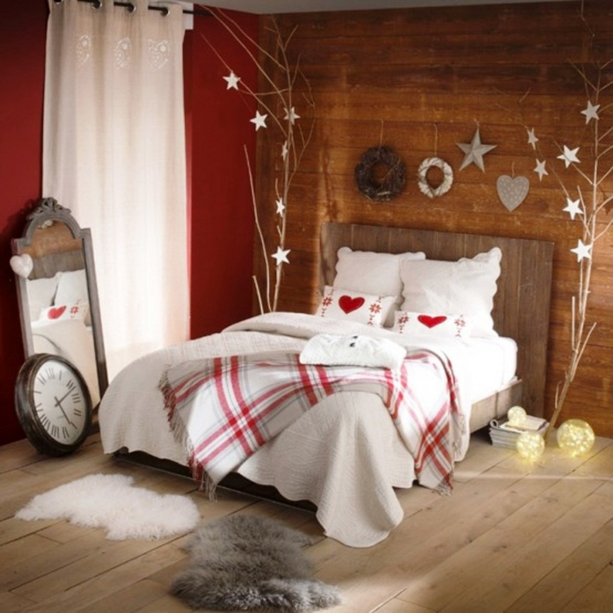Bedroom Decoration 30 Christmas Bedroom Decorations Ideas