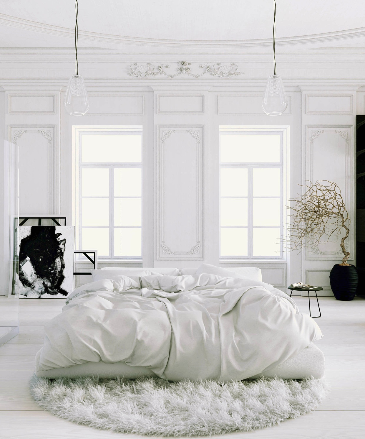 All White Apartment 41 White Bedroom Interior Design Ideas And Pictures