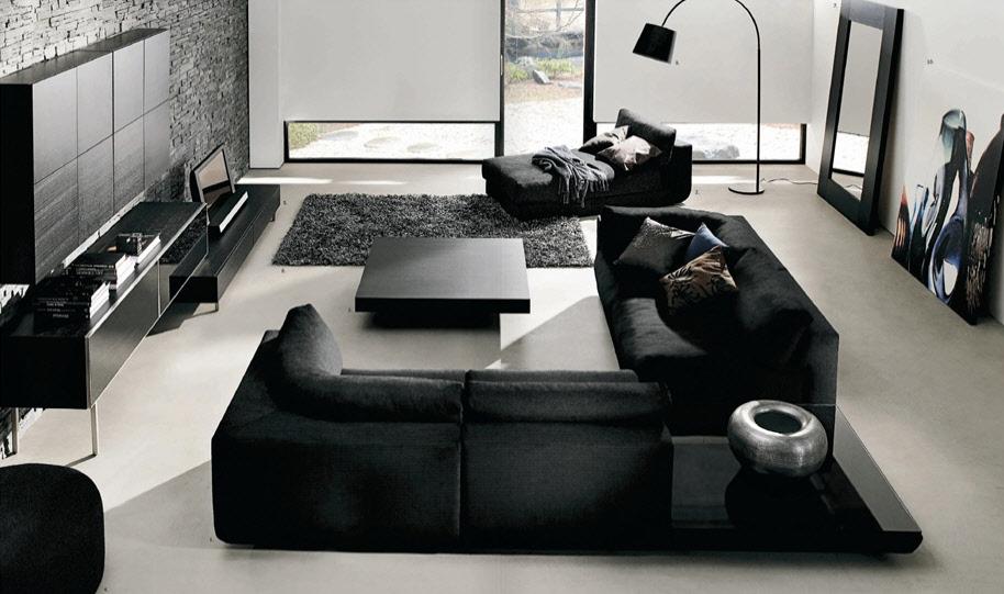 Black And White Living Room Interior Design Ideas - black and white living rooms