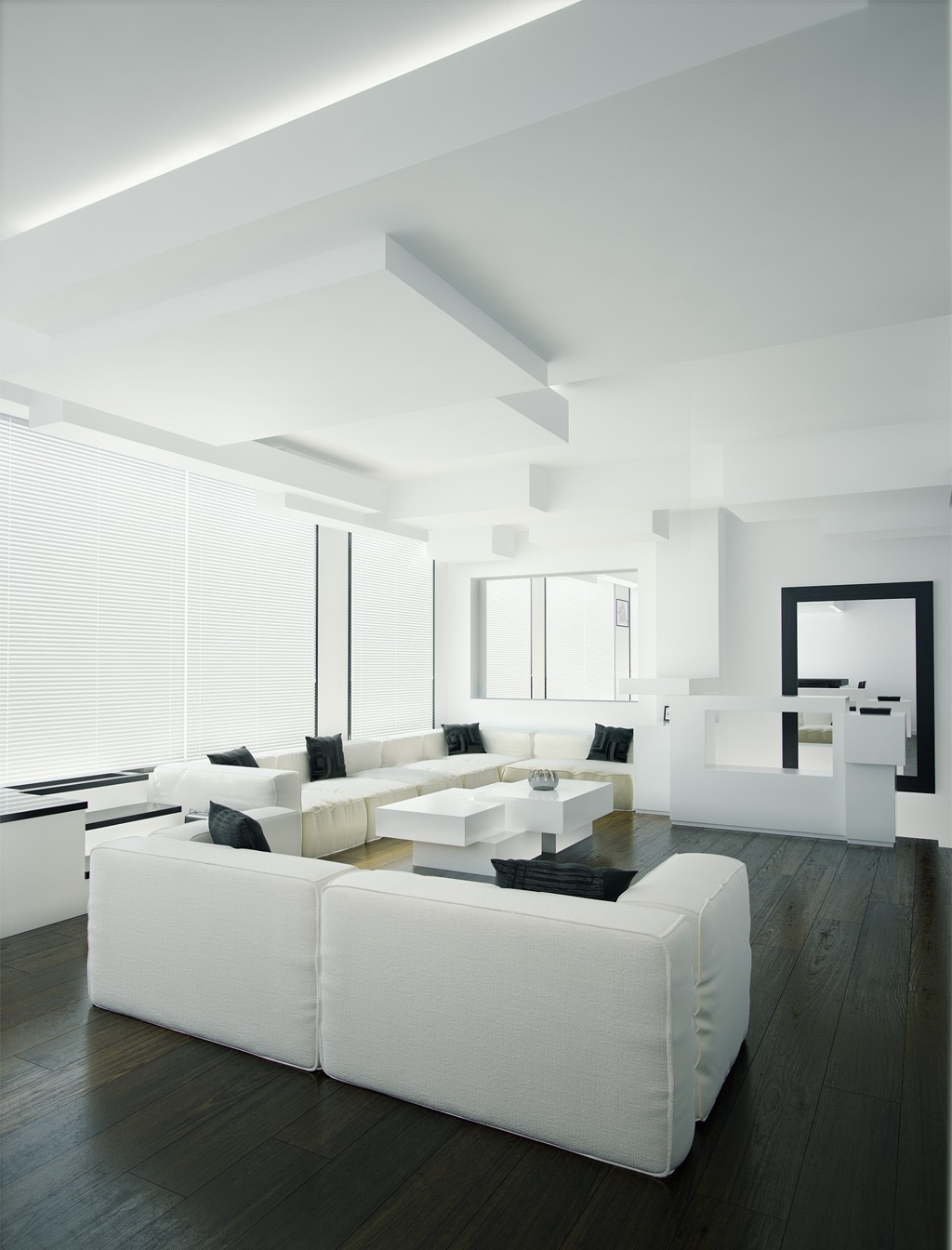 White On White Living Room Ideas At The House Black And White Living Room Interior